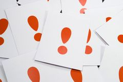 Admiration Sign close up. Admiration sign in red and white paper Stock Photo