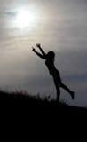 Admiration. Sun, loneliness, hope, sunrise Royalty Free Stock Images