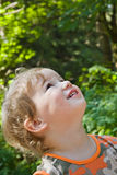 Admired and surprised boy Stock Photography