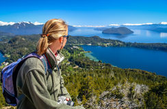Free Admiring Argentinian Lake District Royalty Free Stock Photography - 96215117