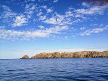 Admiring the beautiful ocean vistas off the coast of Bonavista, royalty free stock photos