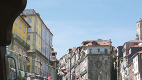 Admiring the city of Porto stock footage