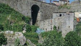 Admiring the city of Porto - quaint houses stock video footage