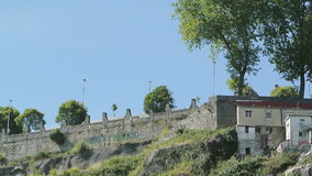 Admiring the city of Porto - quaint houses stock footage