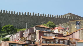 Admiring the city of Porto - quaint houses stock video
