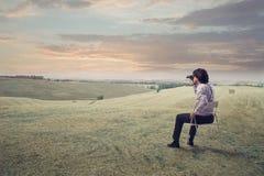 Admiring the Countryside Stock Photos