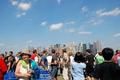 Admiring Downtown Manhattan Royalty Free Stock Images