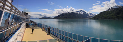 Admiring Glacier Bay Stock Photo