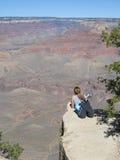 Admiring the Grand Canyon Stock Photos