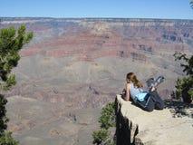 Admiring the Grand Canyon Royalty Free Stock Photos
