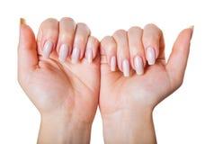 While admiring nails Stock Photo