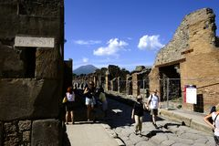 Admiring Pompeii Royalty Free Stock Image