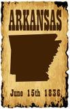 Admisión de Arkansas a la fecha de la unión stock de ilustración