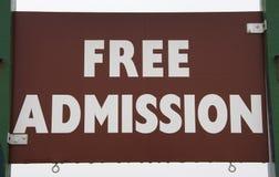 Admisión libre Fotos de archivo libres de regalías