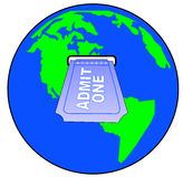 Admissão internacional ilustração do vetor