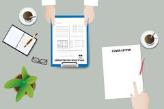 Admission interview to work vector concept Stock Image