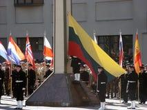 Admission into NATO. Celebration ceremony due to Lithuania admission into NATO. Vilnius, 02-04-2004 royalty free stock photos
