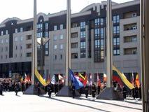 Admission into NATO. Celebration ceremony due to Lithuania admission into NATO. Vilnius, 02-04-2004 royalty free stock photo