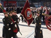 Admission into NATO. Celebration ceremony due to Lithuania admission into NATO. Vilnius, 02-04-2004 stock image