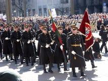 Admission into NATO. Celebration ceremony due to Lithuania admission into NATO. Vilnius, 02-04-2004 stock photos