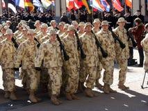 Admission into NATO. Celebration ceremony due to Lithuania admission into NATO. Vilnius, 02-04-2004 stock photo