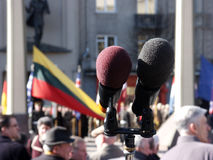 Admission into NATO. Celebration ceremony due to Lithuania admission into NATO. Vilnius, 02-04-2004 Stock Images