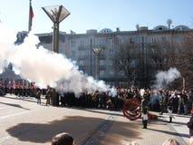 Admission into NATO. Celebration ceremony due to Lithuania admission into NATO. Vilnius, 02-04-2004 royalty free stock image