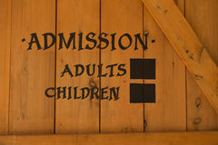 Admission sign Stock Photo