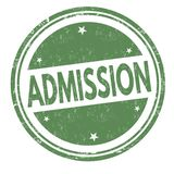 Admission sign or stamp. On white background, vector illustration stock illustration