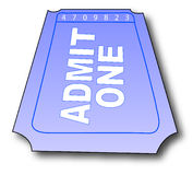 Admission ticket. With the words - admit one - vector royalty free illustration