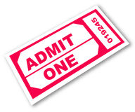 Admission ticket. With the words - admit one - vector vector illustration