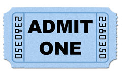 Admission ticket Stock Photography
