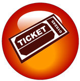 Admission ticket icon Royalty Free Stock Image