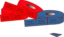 Admission Ticket Illustrations Royalty Free Stock Photography