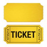 Admission Ticket Isolated. On white background. 3D render royalty free illustration
