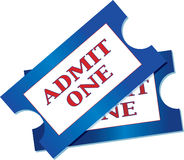 Admission Tickets. A pair of tickets for admisiion to an event Stock Photo