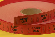 Admission Tickets. Photo of A Rool of Admission Tickets royalty free stock photo