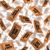 Admission Tickets Stock Image