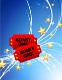 Admission Tickets on Abstract Modern Light Background Stock Image