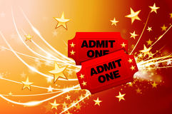 Admission Tickets on Abstract Modern Light Background Stock Photography