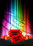 Admission Tickets on Abstract Spectrum Background Stock Photography