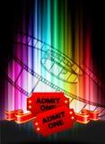 Admission Tickets on Abstract Spectrum Background. Original Illustration stock illustration