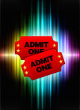 Admission Tickets on Abstract Spectrum Background Royalty Free Stock Images