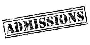 Admissions black stamp Stock Photos