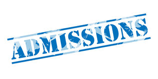 Admissions blue stamp Stock Photo