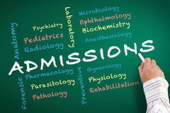 Admissions Department of Medicine Stock Photos