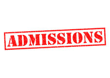 ADMISSIONS Stock Photography