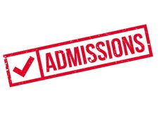 Admissions rubber stamp Royalty Free Stock Photo