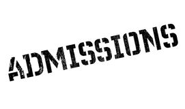 Admissions rubber stamp Stock Images