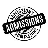 Admissions rubber stamp Stock Photo